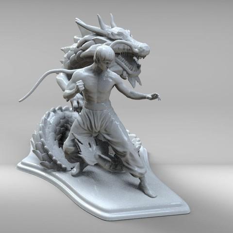 bruse lee m.jpg Télécharger fichier STL dragon bruce lee • Modèle imprimable en 3D, walades