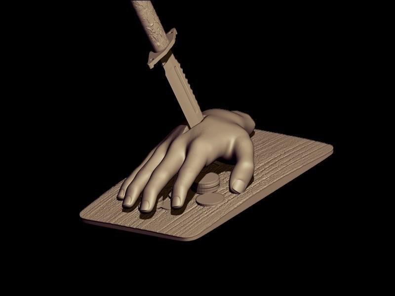 BPR_Render knife 2.jpg Download OBJ file knife • 3D print design, walades