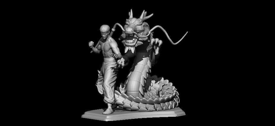 BPR_Render.jpg Télécharger fichier STL dragon bruce lee • Modèle imprimable en 3D, walades