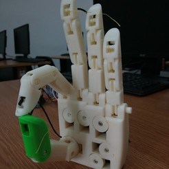 Plan 3D gratuit Robotic Hand V2 EPS Biomecanique Bionic mecanical hand main robotisé mécanique, luc_riaud
