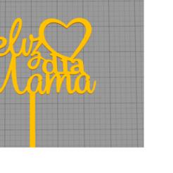 Sin título.png Télécharger fichier STL Bonne journée, maman. • Design pour imprimante 3D, nicolasm96