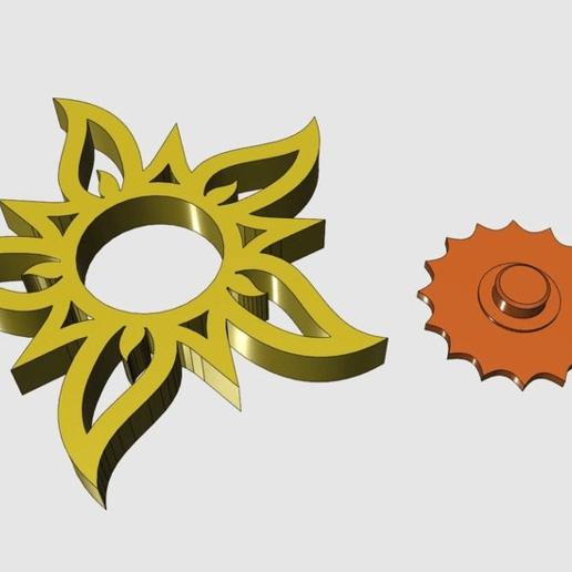 Sun_Spinner.png Télécharger fichier STL gratuit La Tourneuse de soleil Fidget | 608ZZ • Plan pour imprimante 3D, Greg_The_Maker