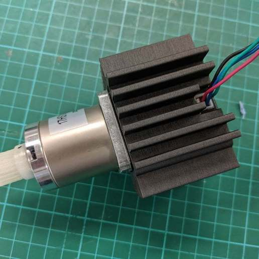 Download free SCAD file Parametric Stepper Motor Heat-Sink • 3D printing template, Greg_The_Maker