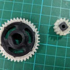 Download free STL file OpenRC F1 Dual Material Spur & Pinion Gears • 3D printing model, Greg_The_Maker