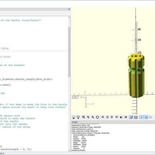 scand_reamer.jpg Download free SCAD file Customizable Hole Reamer • 3D printer design, Greg_The_Maker