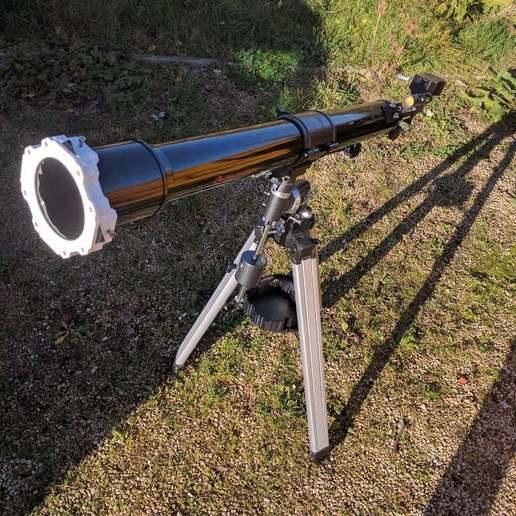 Download free STL file Telescope Solar Filter & Case., Greg_The_Maker