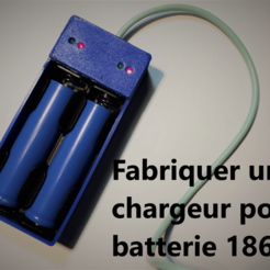 Free Battery charger 18650 STL file, electron110v