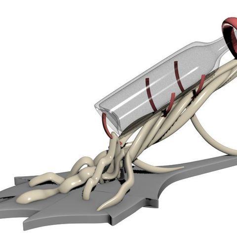 1.JPG Télécharger fichier 3DS gratuit Le Prévin, présentoir de bouteille de vin élégant • Objet pour impression 3D, stefsanchez34670