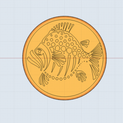 Impresiones 3D Sello de pescado para arcilla/polímero arcilla/cocinas, Dsignrcmc