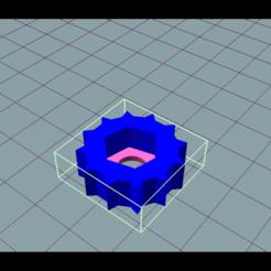 Imprimir en 3D gratis Perilla tuerca M6, marceloeserafino