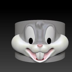 bugs bunny head mug.jpg Download OBJ file Bugs Bunny applique for mug • Template to 3D print, Alquimia3D
