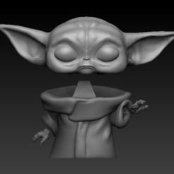 bb yoda split.jpg Télécharger fichier OBJ BABY YODA BOBBLEHEAD (version scindée) • Objet pour impression 3D, Alquimia3D
