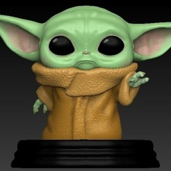 Download STL Baby yoda bobblehead, scolarijulio