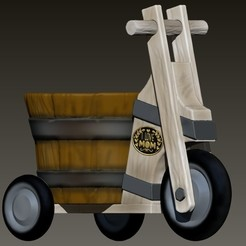 maceta triciclo madera.jpg Download OBJ file wood style tricycle planter • Object to 3D print, Alquimia3D