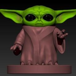 Télécharger STL Baby Yoda (mandalorien), Alquimia3D