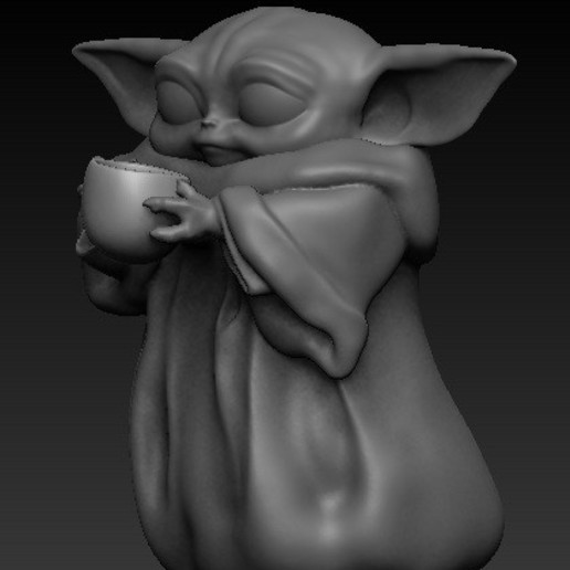 Download Free 3D Printing Designs Baby Yoda Cup ・ Cults