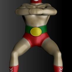 destapador luchador.jpg Download OBJ file wrestler bottle opener • 3D printer template, Alquimia3D