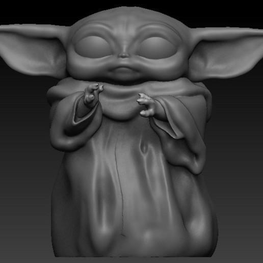 split.jpg Download free OBJ file Baby yoda cup • 3D printable model, Alquimia3D