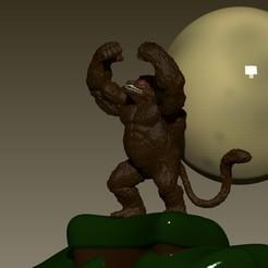 ozaru.jpg Télécharger fichier OBJ Ozaru, boule de dragon, Ozaru d'or • Modèle pour imprimante 3D, Alquimia3D