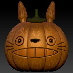 totoro.jpg Download OBJ file pumpkin festival • 3D printer design, Alquimia3D