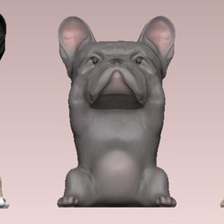 three wise french bulldog.jpg Download OBJ file three wise french bulldog • 3D printing design, Alquimia3D