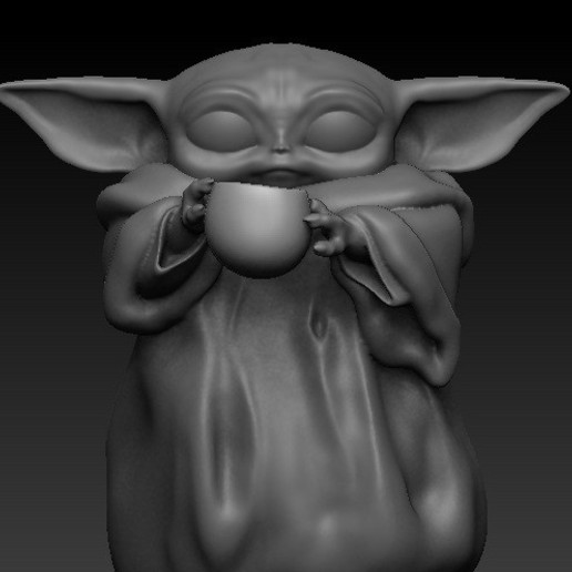 Download free 3D printing designs Baby yoda cup, scolarijulio