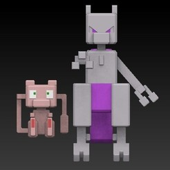 Download STL files Mew& Mewtwo pokemon quest, scolarijulio