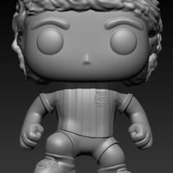 Diego Armando Maradona POP.jpg Télécharger fichier OBJ FUNKO DIEGO MARADONA • Objet imprimable en 3D, Alquimia3D
