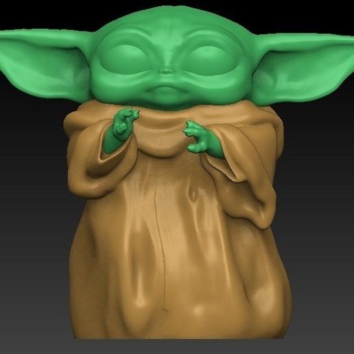 split0.jpg Download free OBJ file Baby yoda cup • 3D printable model, Alquimia3D