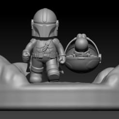mandalorian bros.jpg Download OBJ file Mandalorian Bros (fanart) • 3D printable template, Alquimia3D