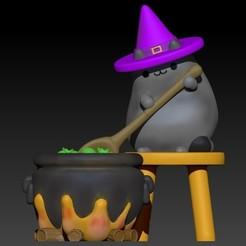 pusheen halloween.jpg Download OBJ file Pusheen halloween • Object to 3D print, Alquimia3D