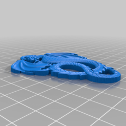 drakon2_pendant.png Télécharger fichier STL gratuit Dragon pendant • Design pour imprimante 3D, bigj121