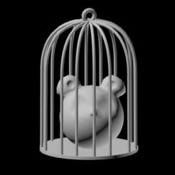 stl 3d Cage Pendant, emilie3darchitecture