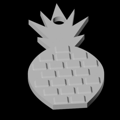 STL files Pineapple Pendant, emilie3darchitecture