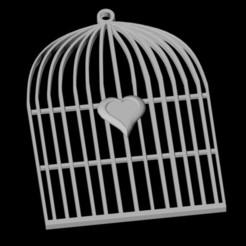 3D print files Heart Cage Pendant, emilie3darchitecture