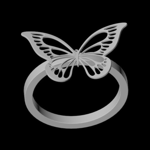 stl Butterfly Ring, emilie3darchitecture