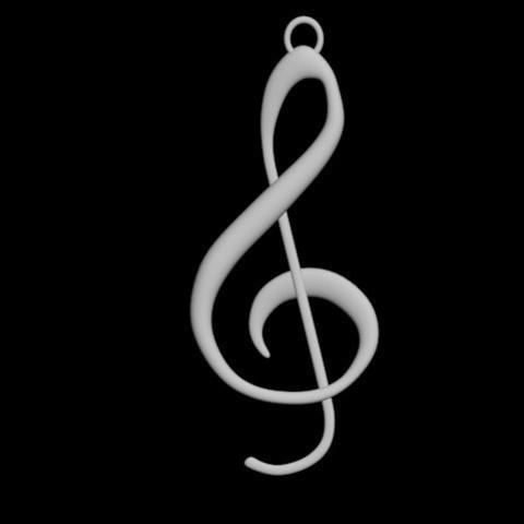 STL file Music Note Pendant, emilie3darchitecture