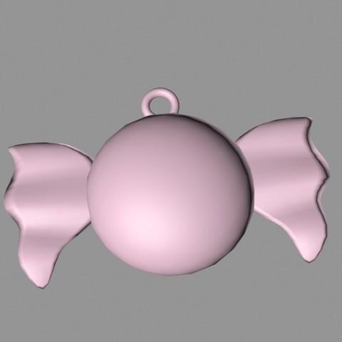 PendentifBonbonpapier.jpg Download 3DS file Candy Pendant • 3D printer model, emilie3darchitecture