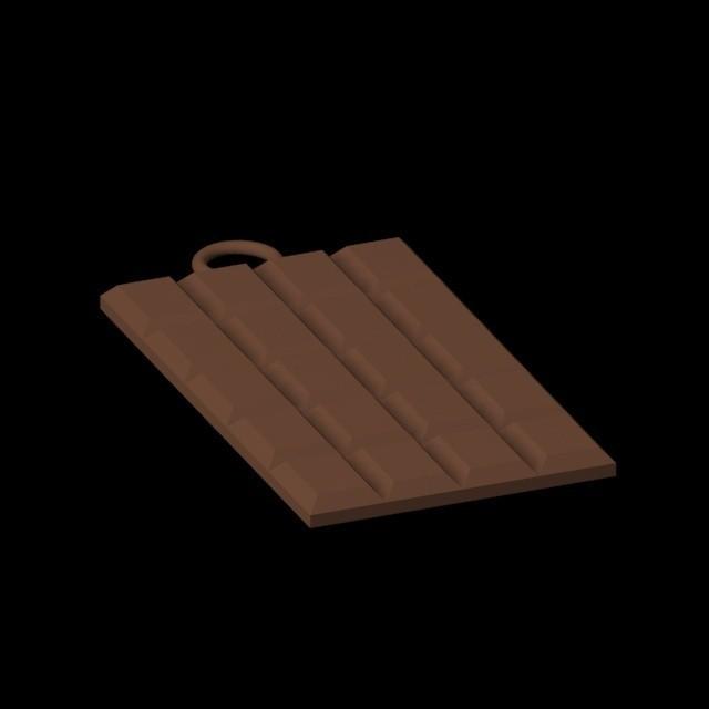 Pendentif Tablette chocolat .jpg Download 3DS file chocolate bar pendant • 3D print design, emilie3darchitecture