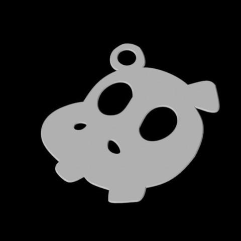3D printing model Hippopotamus Pendant, emilie3darchitecture