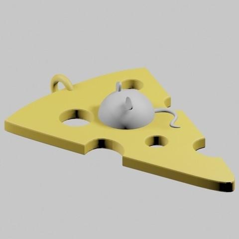STL Smiling cheese pendant, emilie3darchitecture