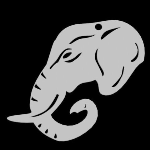 3D printing model Elephant Pendant, emilie3darchitecture