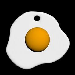Download STL file Pendant Egg in a dish, emilie3darchitecture