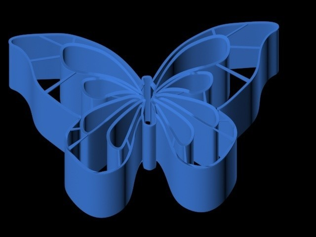 Emporte pièce Papillon.jpg Download 3DS file Butterfly piece cutter • 3D printer design, emilie3darchitecture
