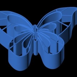 3D print files Butterfly piece cutter, emilie3darchitecture