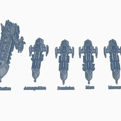Screenshot 11-20-2020 16.23.29.jpg Download free STL file IMPERIAL GOTHIC SPACE FLEET - Part 1 • 3D printer design, kiwicolourstudio