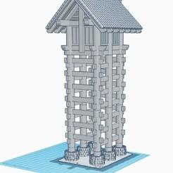 Download 3D printing designs Japanese Watchtower, kiwicolourstudio