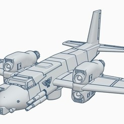 Screenshot 07-24-2020 15.14.30.jpg Download STL file Warthog 40k Imperial fighter bomber • 3D printing model, kiwicolourstudio