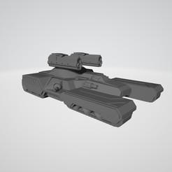 Download STL file BATTLETECHNOLOGY CARNIVORE ASSAULT TANK • 3D printable design, kiwicolourstudio