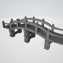 Download 3D printing models 28mm Raised Japanese Bridge, kiwicolourstudio